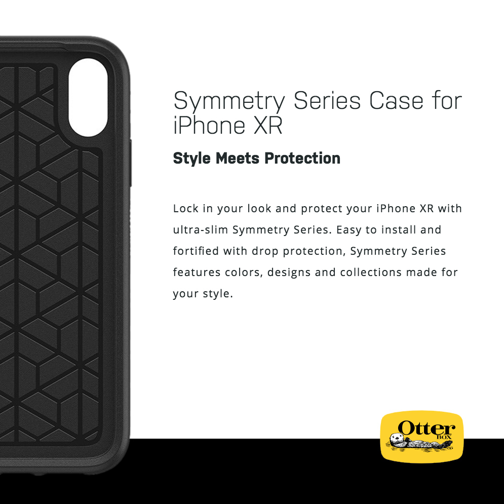 OtterBox Symmetry Case for Apple iPhone Xr (Black)